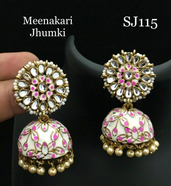 Meenakari jhumkis LT292199