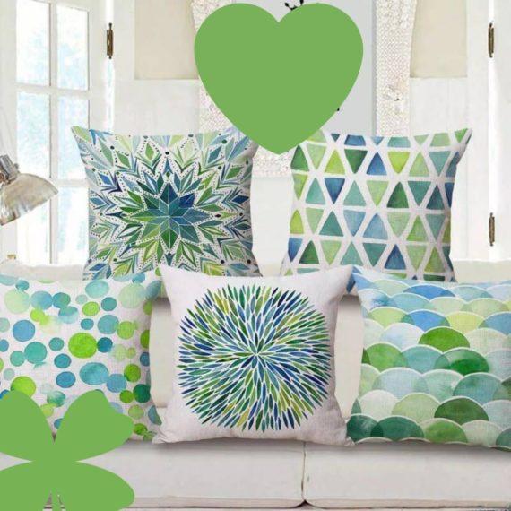 Blue-Green Cushion Covers