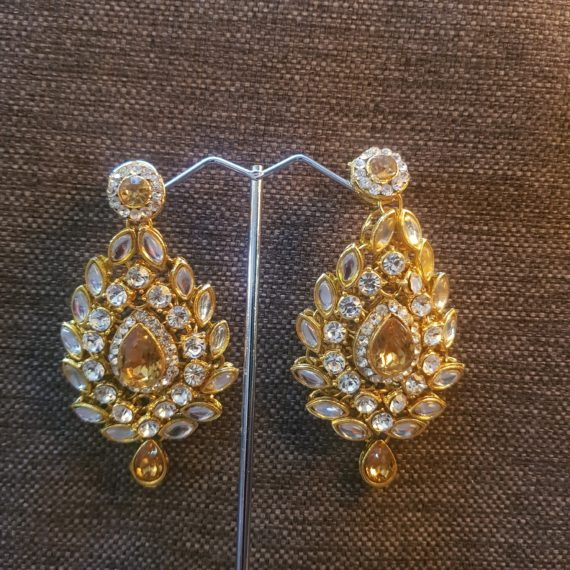 Fashion Gold Kundan Earrings
