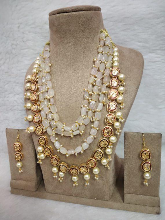 Semiprecious Stones Necklace Set