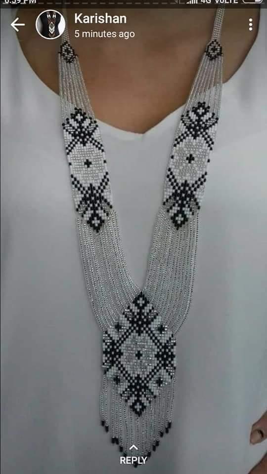 White and Black Beads Jewelery